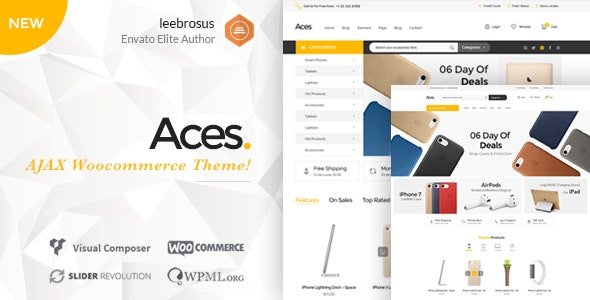Ace - Accessories AJAX Woocommerce Theme 3