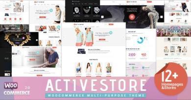 ActiveWear WooCommerce Responsive WordPress Theme 3