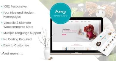 Amy Handmade - Blog and Shop WordPress Theme 4