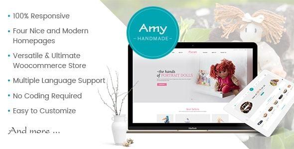 Amy Handmade - Blog and Shop WordPress Theme 1