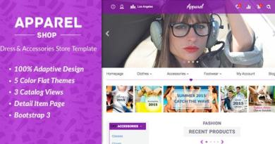 Apparel – Clothes and Accessories WooComerce Theme 3