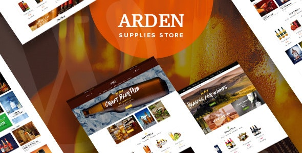 Arden - Modern Brewery & Pub WordPress Theme 1