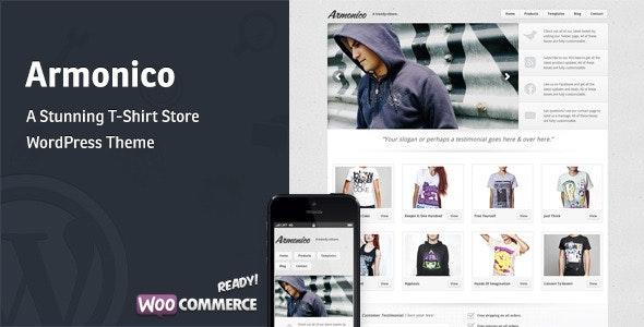 Armonico - A Stunning Tee Store WordPress Theme 1