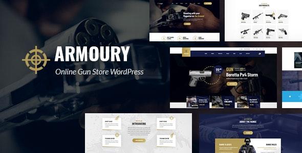 Armoury - Weapon Store WordPress Theme 1