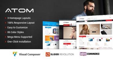 Atom - Responsive WooCommerce WordPress Theme 3
