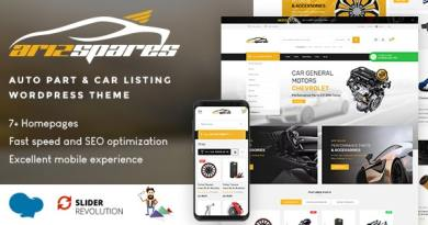 Azirspares - Auto Part & Car Listing WordPress Theme (RTL supported) 2