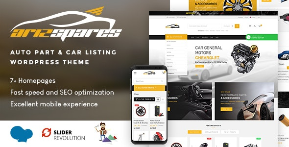 Azirspares - Auto Part & Car Listing WordPress Theme (RTL supported) 6