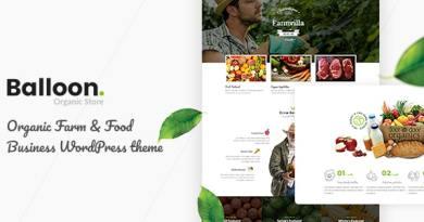 Balloon | Organic Farm & Food Business WordPress Themes 2