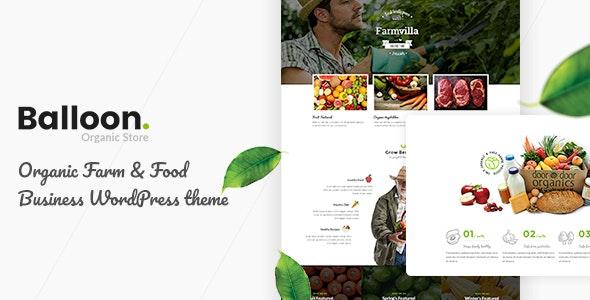 Balloon | Organic Farm & Food Business WordPress Themes 1