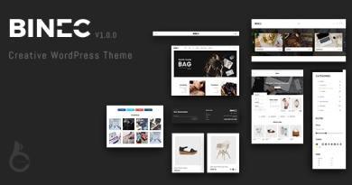 Binec - Creative WordPress WooCommerce Theme 11