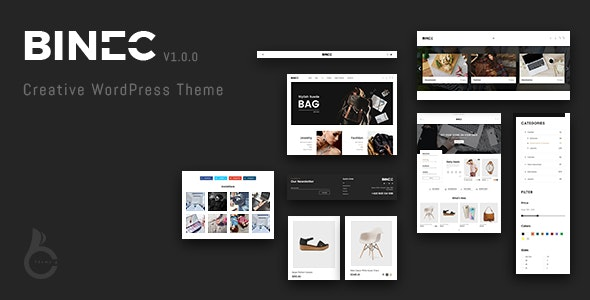 Binec - Creative WordPress WooCommerce Theme 1