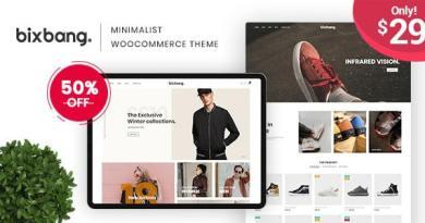 Bixbang - Minimalist eCommerce WordPress Theme for WooCommerce 3