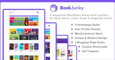 BookJunky - WooCommerce Book Store for WordPress 3