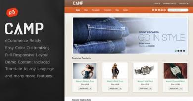 Camp - Responsive eCommerce Theme 2