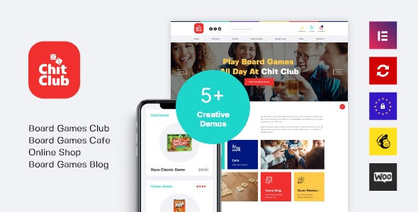 Chit Club | Board Games Bar & Anticafe WordPress Theme 3