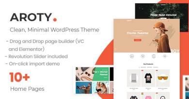 Clean Minimal Shop WordPress WooCommerce Theme 3