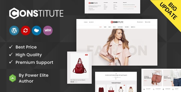 Constitute - WooCommerce Responsive Theme 3