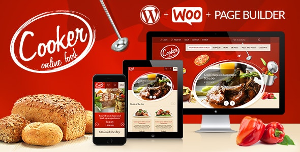 Cooker - Responsive Online Restaurant, Cafe Bar 1