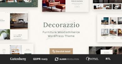 Decorazzio - Interior Design and Furniture Store WordPress Theme 3