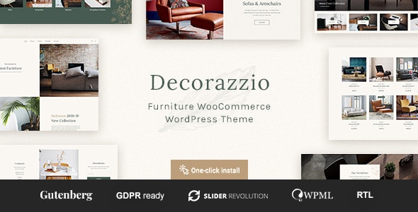 Decorazzio - Interior Design and Furniture Store WordPress Theme 2