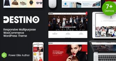 Destino - Digital Store & Fashion Shop WordPress WooCommerce Theme (7+ Indexes & Mobile Layouts) 2