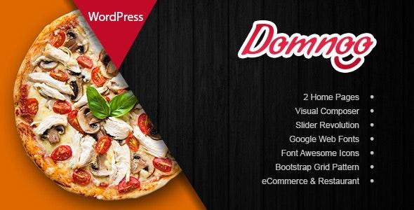 Domnoo - Pizza & Restaurant WordPress Theme 1