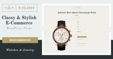 eClassy - eCommerce Classy Pro WordPress Theme 4