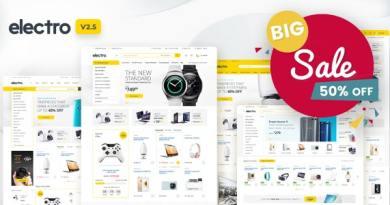 Electro Electronics Store WooCommerce Theme 2