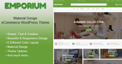 Emporium - Material Design eCommerce WordPress Theme 2
