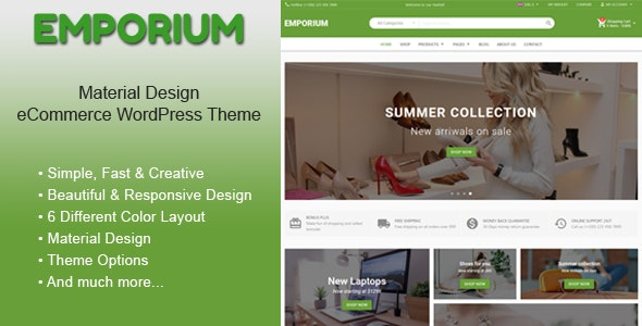 Emporium - Material Design eCommerce WordPress Theme 2