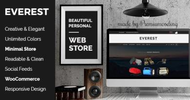 Everest - Minimal Ecommerce WordPress Theme 4