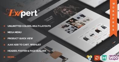 Expert - Clean eCommerce WordPress Theme 2