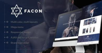 Facon - Fashion Responsive WordPress Theme 2