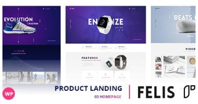 Felis - WordPress Product Landing Page 2