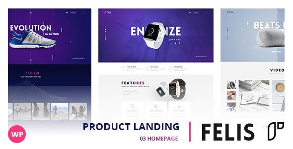 Felis - WordPress Product Landing Page 1