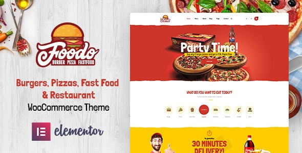 Foodo - Fast Food Restaurant WordPress Theme 3