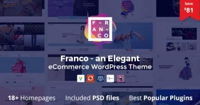 Franco - Elegant WooCommerce WordPress Theme 3