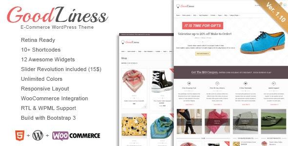 GoodLiness - Retina Responsive WooCommerce Theme 1