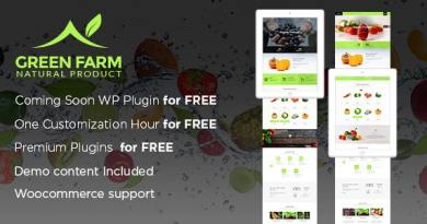 Green Farm – Organic Food & Eco Farm WP Theme 2