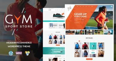 GYM   Sports Clothing & Equipment Store WordPress Theme 3