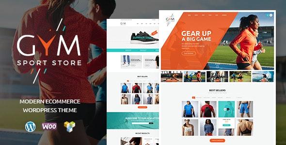 GYM | Sports Clothing & Equipment Store WordPress Theme 2