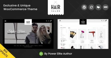 Hair Salon - WooCommerce Responsive Theme 3