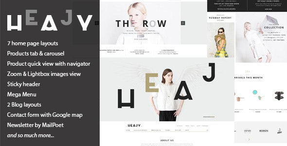 Heajy - Handmade Fashion WordPress Theme 2