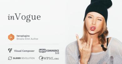 inVogue - WordPress Fashion Shopping Theme 3