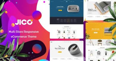 Jico - Furniture & Home Decor for WooCommerce WordPress 3