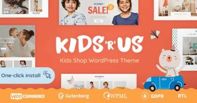 Kids R Us - Toy Store and Children Clothes Shop Theme 4