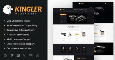 Kingler | Weapon Store & Gun Training WordPress Theme 3