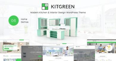 KitGreen - Modern Kitchen & Interior Design WordPress Theme 4