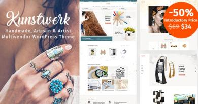 Kunstwerk - Handycraft Marketplace WordPress Theme 4