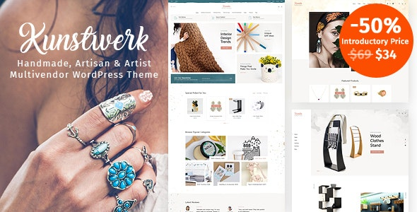 Kunstwerk - Handycraft Marketplace WordPress Theme 1
